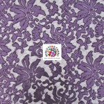 Floral Fashion Dress Gowns Sequins Lace Fabric Purple