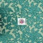 Floral Fashion Dress Gowns Sequins Lace Fabric Turquoise