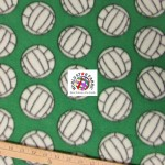 Volleyball Anti-pill Fleece Fabric Green
