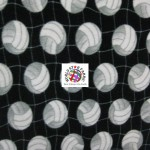 Volleyball Anti-pill Fleece Fabric Net Black