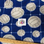 Volleyball Anti-pill Fleece Fabric Net Blue