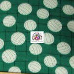 Volleyball Anti-pill Fleece Fabric Net Green