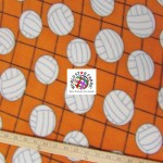 Volleyball Anti-pill Fleece Fabric Net Orange