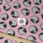 Volleyball Anti-pill Fleece Fabric Net Pink