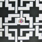 Maze Puzzle Style Waterproof Outdoor Fabric Black