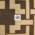 Maze Puzzle Style Waterproof Outdoor Fabric Brown