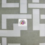 Maze Puzzle Style Waterproof Outdoor Fabric Gray