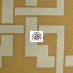 Maze Puzzle Style Waterproof Outdoor Fabric Khaki