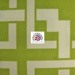 Maze Puzzle Style Waterproof Outdoor Fabric Lime