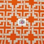 Maze Puzzle Style Waterproof Outdoor Fabric Orange