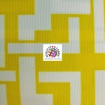 Maze Puzzle Style Waterproof Outdoor Fabric Yellow