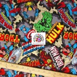 Marvel Comics Cotton Fabric Characters