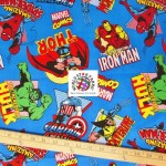 Marvel Comics Cotton Fabric Heroes