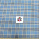 Plaid Tartan Quilt Flannel Fabric Aqua Khaki