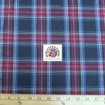 Plaid Tartan Quilt Flannel Fabric Black Red