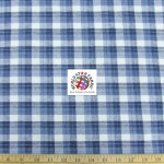 Plaid Tartan Quilt Flannel Fabric Blue White