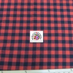 Plaid Tartan Quilt Flannel Fabric Buffalo Red