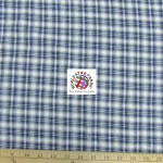 Plaid Tartan Quilt Flannel Fabric Cream Blue