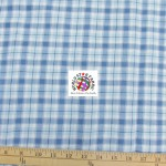 Plaid Tartan Quilt Flannel Fabric Light Blue
