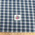 Plaid Tartan Quilt Flannel Fabric Navy Green