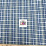 Plaid Tartan Quilt Flannel Fabric Olive Blue