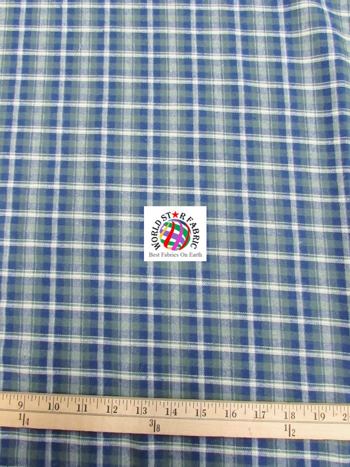 Plaid tartan quilt flannel fabric world star fabric for Fabric world