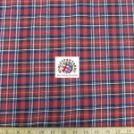 Plaid Tartan Quilt Flannel Fabric Red Black