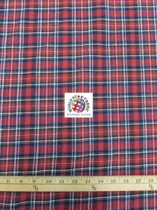 Plaid Tartan Quilt Flannel Fabric Red Black