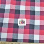 Plaid Tartan Quilt Flannel Fabric Red Black White