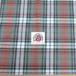 Plaid Tartan Quilt Flannel Fabric Red Blue