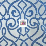 Charlotte Damask Drapery Upholstery Fabric Navy