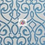Charlotte Damask Drapery Upholstery Fabric Teal