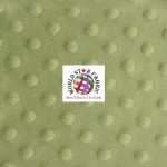 Dimple Dot Baby Soft Minky Fabric Asparagus