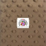 Dimple Dot Baby Soft Minky Fabric Brown