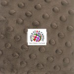 Dimple Dot Baby Soft Minky Fabric Chocolate