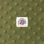 Dimple Dot Baby Soft Minky Fabric Dark Olive