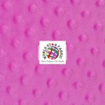 Dimple Dot Baby Soft Minky Fabric Fuchsia