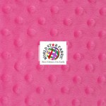 Dimple Dot Baby Soft Minky Fabric Hot Pink