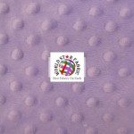 Dimple Dot Baby Soft Minky Fabric Lilac