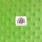 Dimple Dot Baby Soft Minky Fabric Lime Green