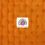 Dimple Dot Baby Soft Minky Fabric Orange