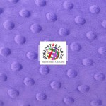 Dimple Dot Baby Soft Minky Fabric Purple