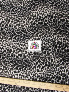 Cheetah Velboa Faux Fur Fabric Black