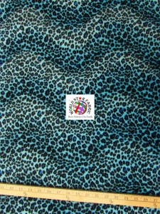 Cheetah Velboa Faux Fur Fabric Blue