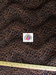 Cheetah Velboa Faux Fur Fabric Chocolate