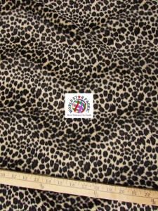 Cheetah Velboa Faux Fur Fabric Cream