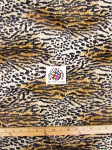 Cheetah Velboa Faux Fur Fabric Wild Cat
