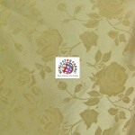 Floral Roses Jacquard Satin Fabric Dark Gold