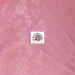 Floral Roses Jacquard Satin Fabric Dark Pink