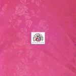 Floral Roses Jacquard Satin Fabric Fuchsia